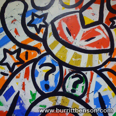 Burritt Benson Acrylic Painting, Burritt Benson Art, Burritt Benson painting, contemporary abstract art, modern art painting