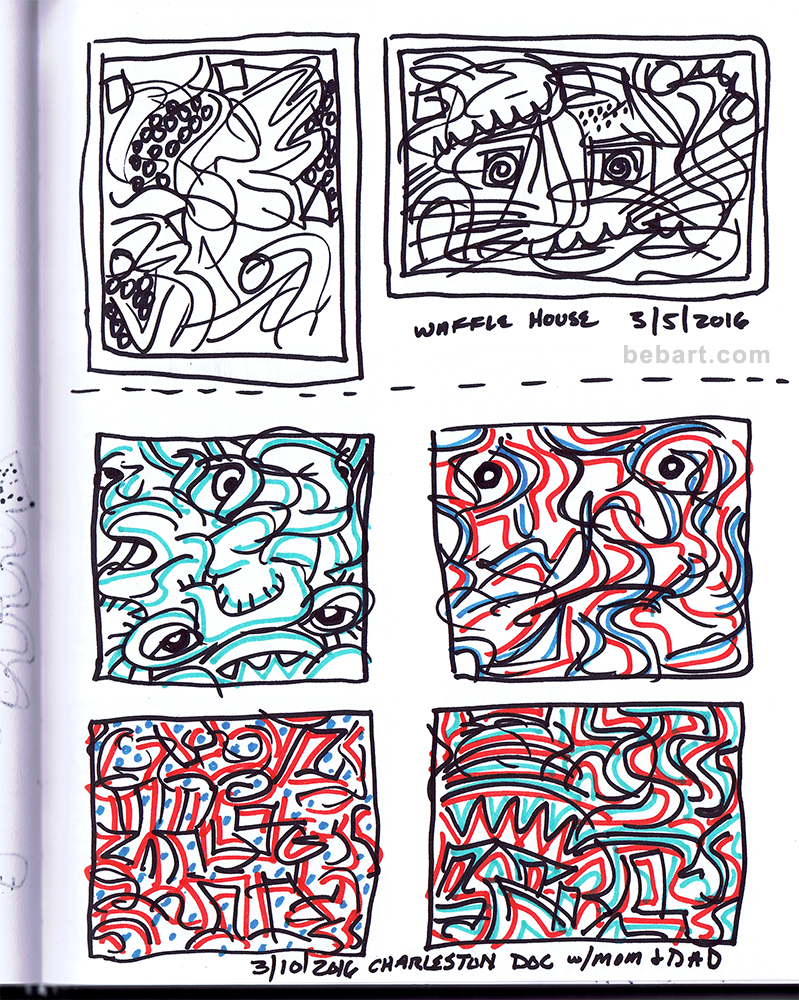 sketchbook art, burritt benson sketchbook art