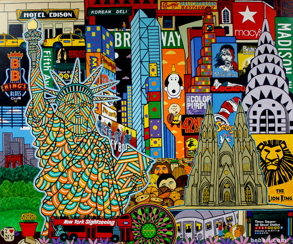 New York City painting, New York painting,  Awesome commissioned painting,